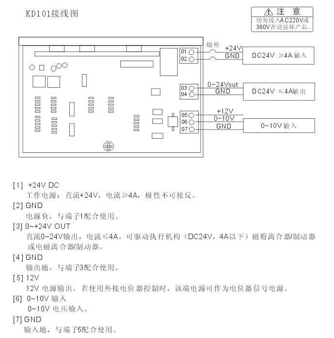 输出电压:0~24vdc,电流:≤4a,可直接驱动以下执行机构:磁粉离合器